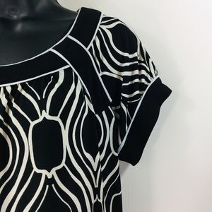 Intermission brand geometric print jersey shift